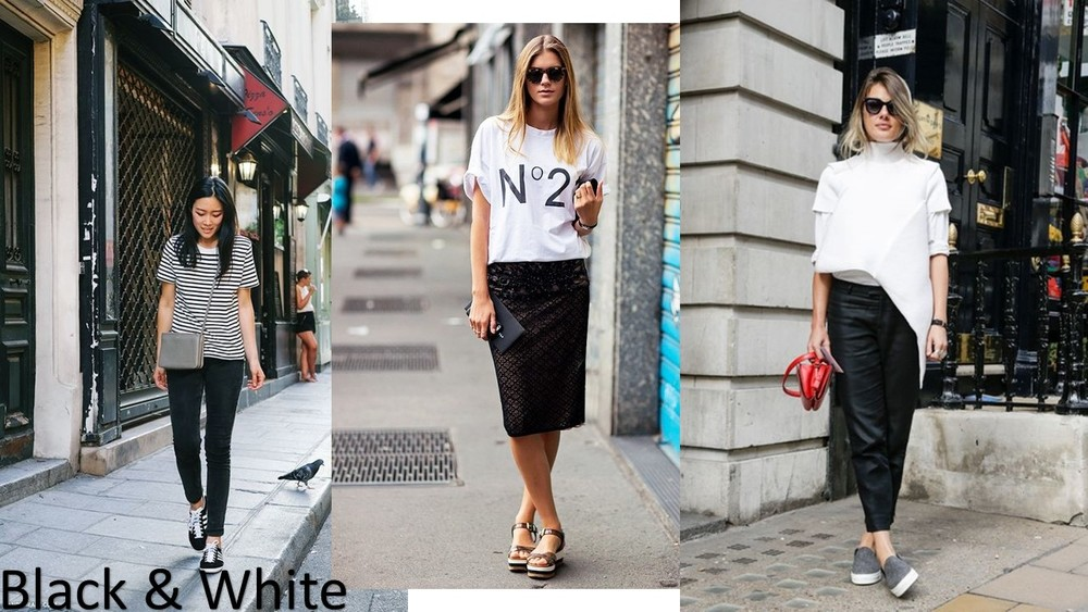 black & white outfit ideas