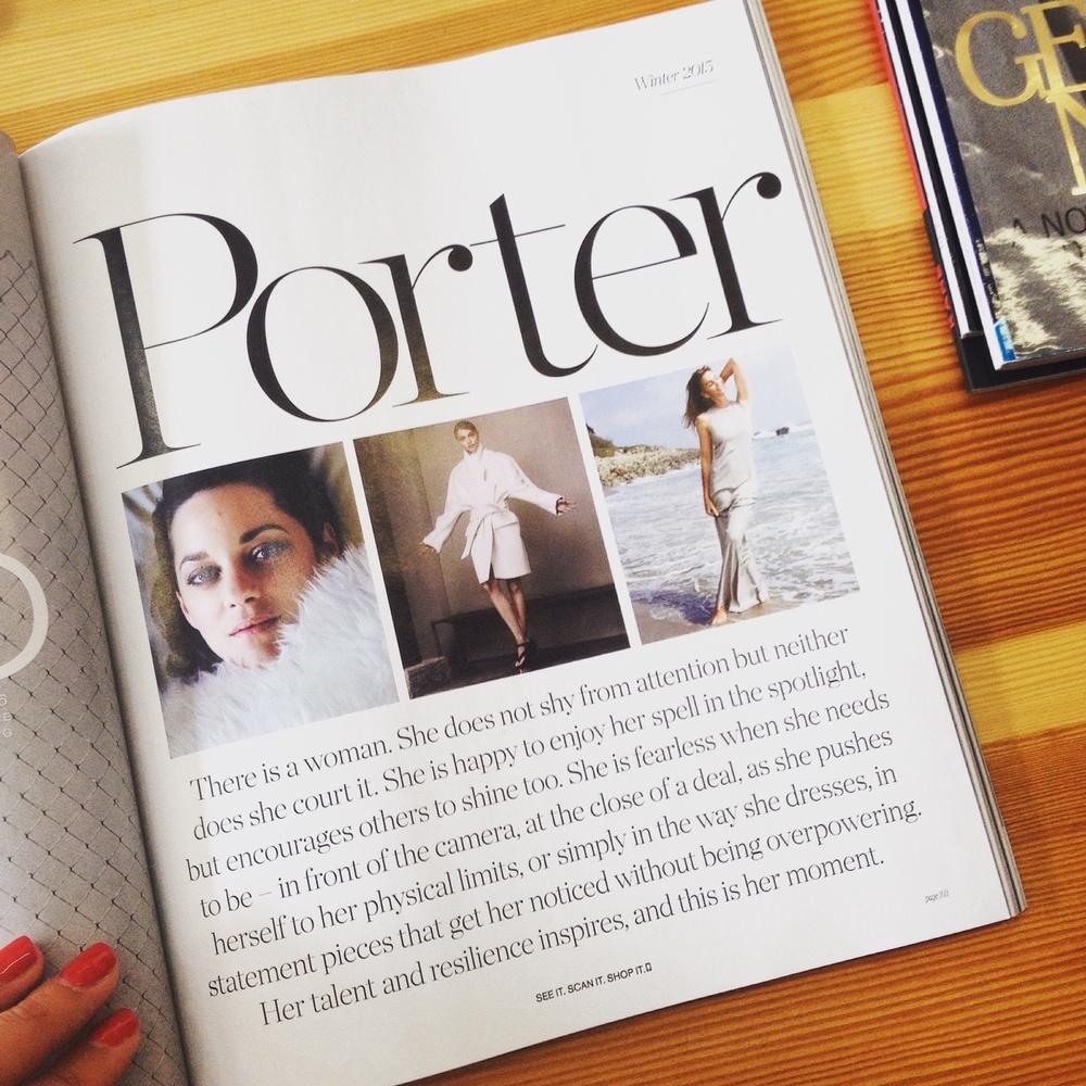 Porter Magazine Winter Edition