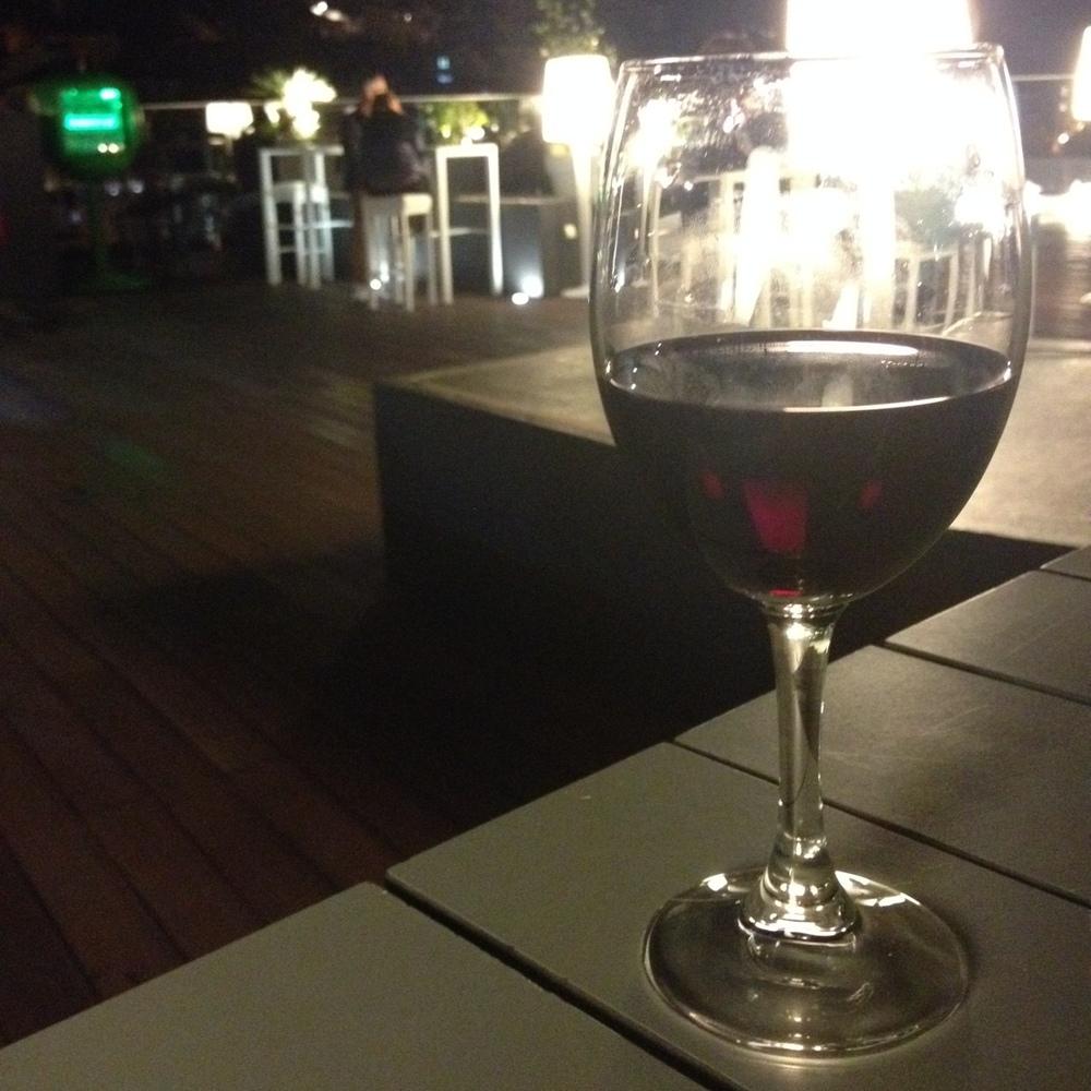 Always a glass of wine