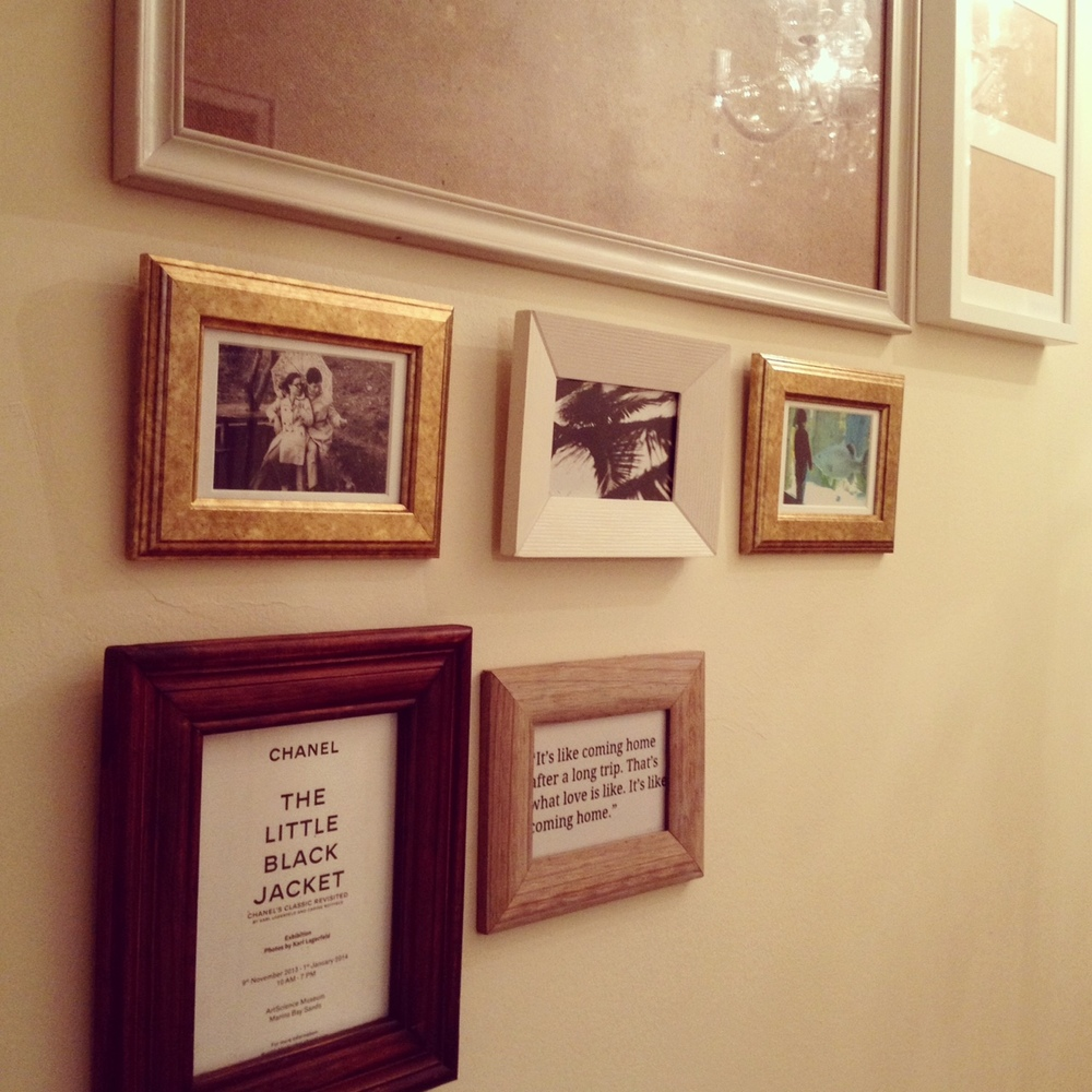 photo wall on the going