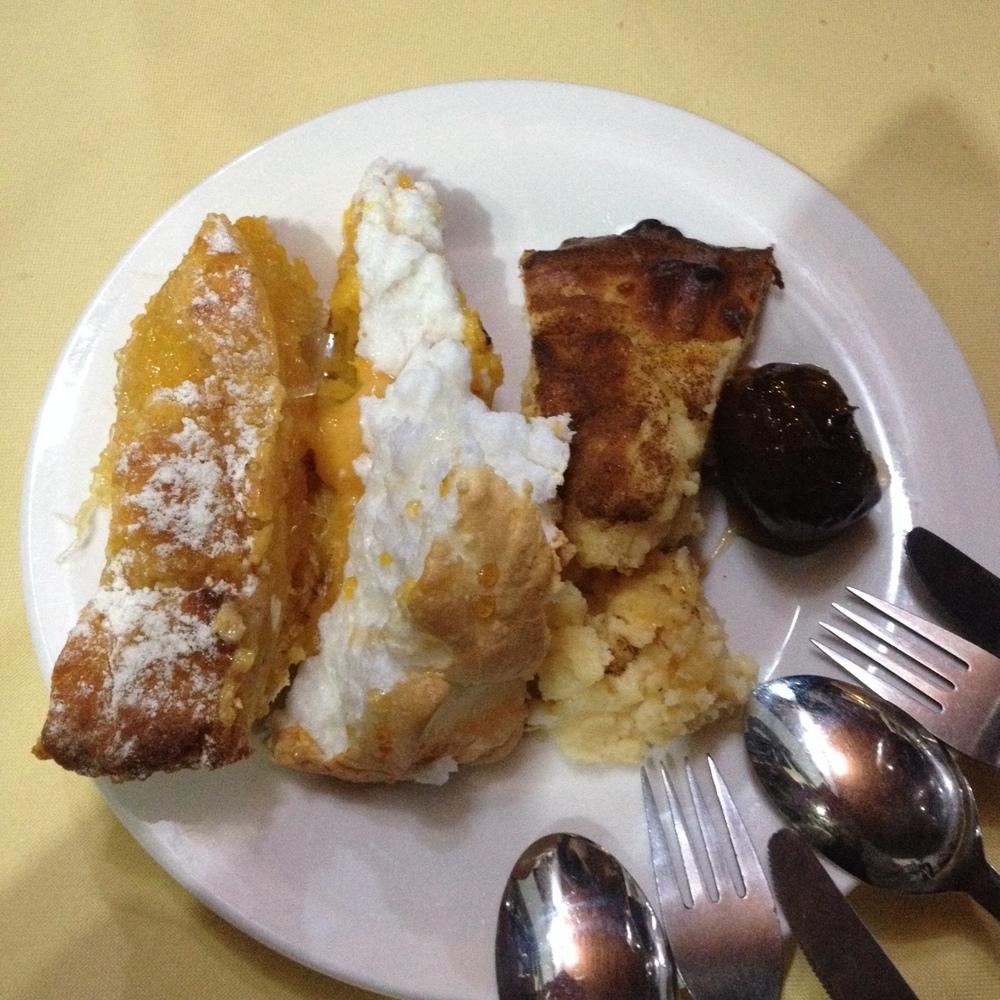 desserts at A Adega restaurant