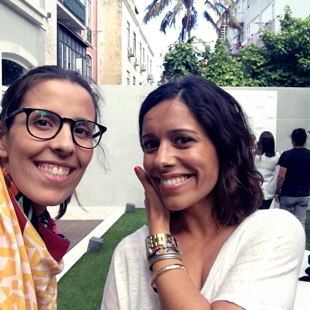 eu e a minha amiga, outrora colega, Rita Reis do Inside Fashion Project