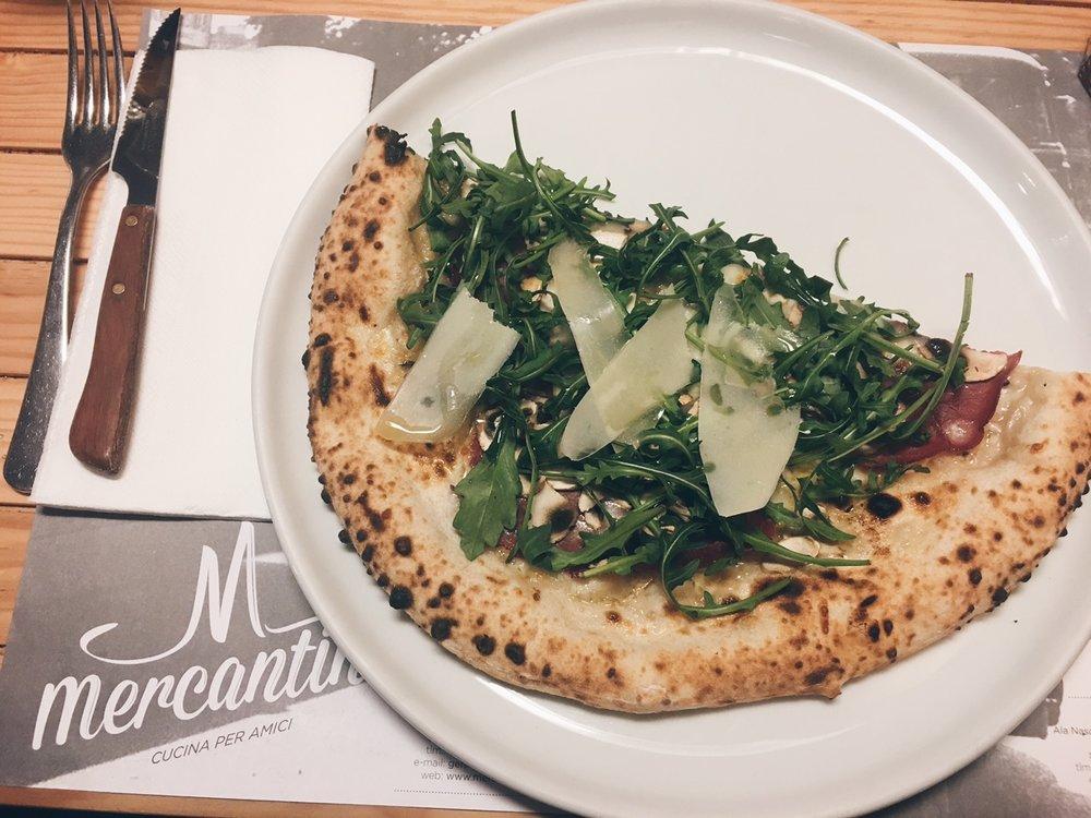 a minha escolha: pizza de trufa branca