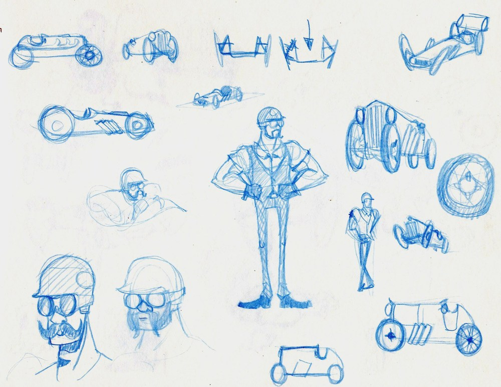 Early Character and Car Design