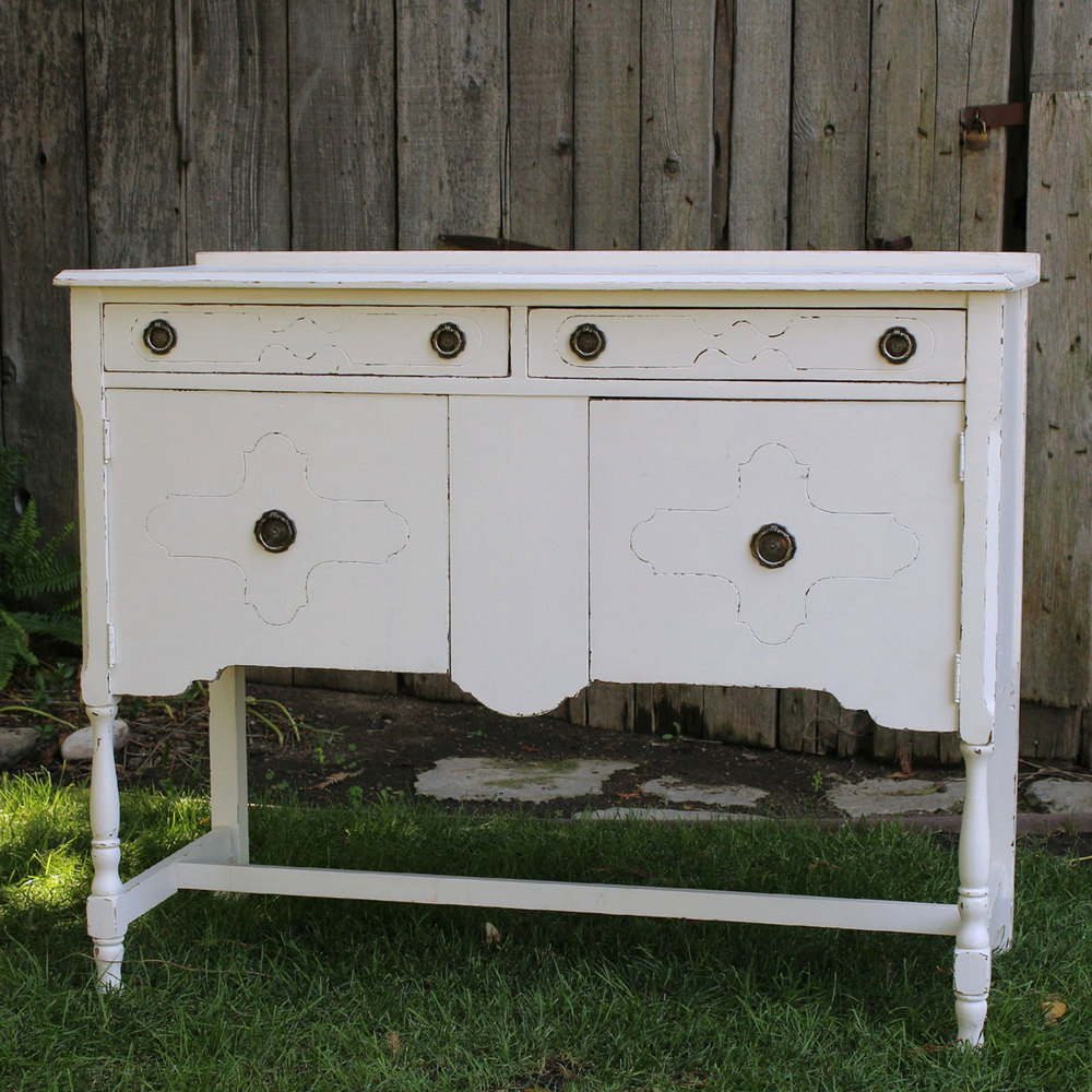 Vintage White Sideboard Table