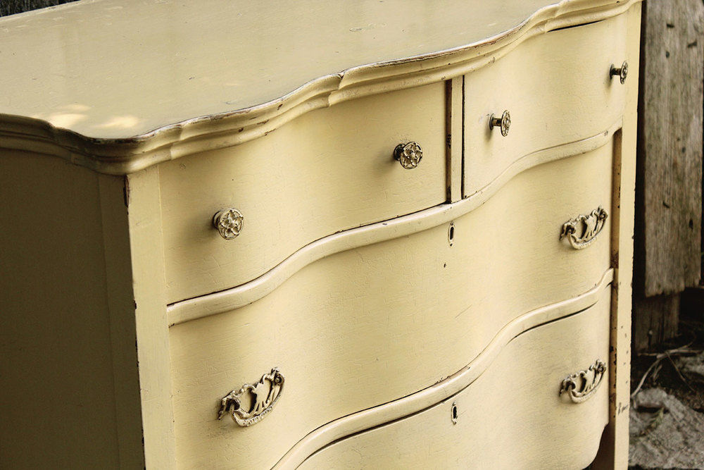 Yellow Vintage Dresser for rent