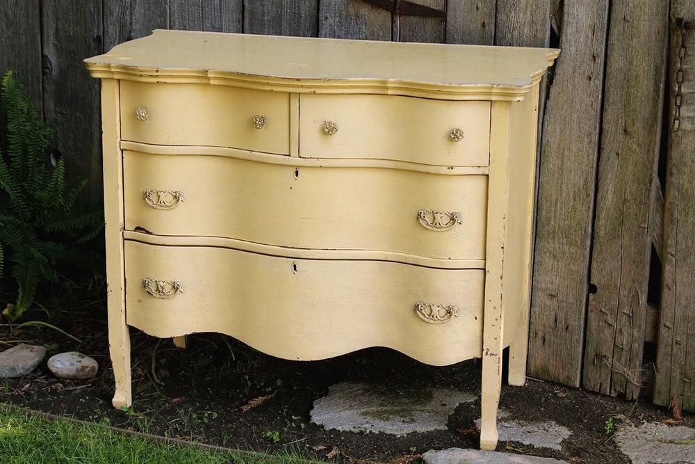 Yellow Wavy Dresser