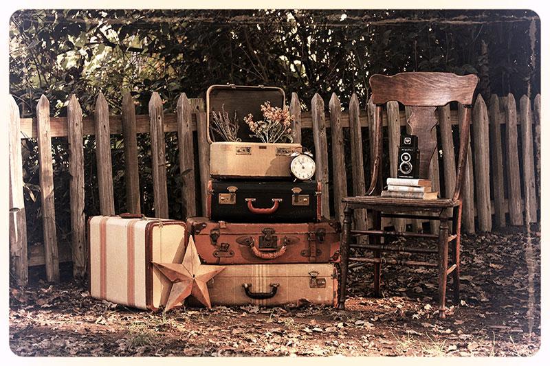 Vintage Suitcase Vignette