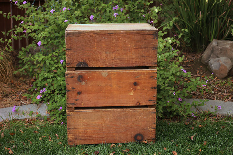 LARGE FRUIT CRATES - $8 QTY OF 6 AVAILABLE