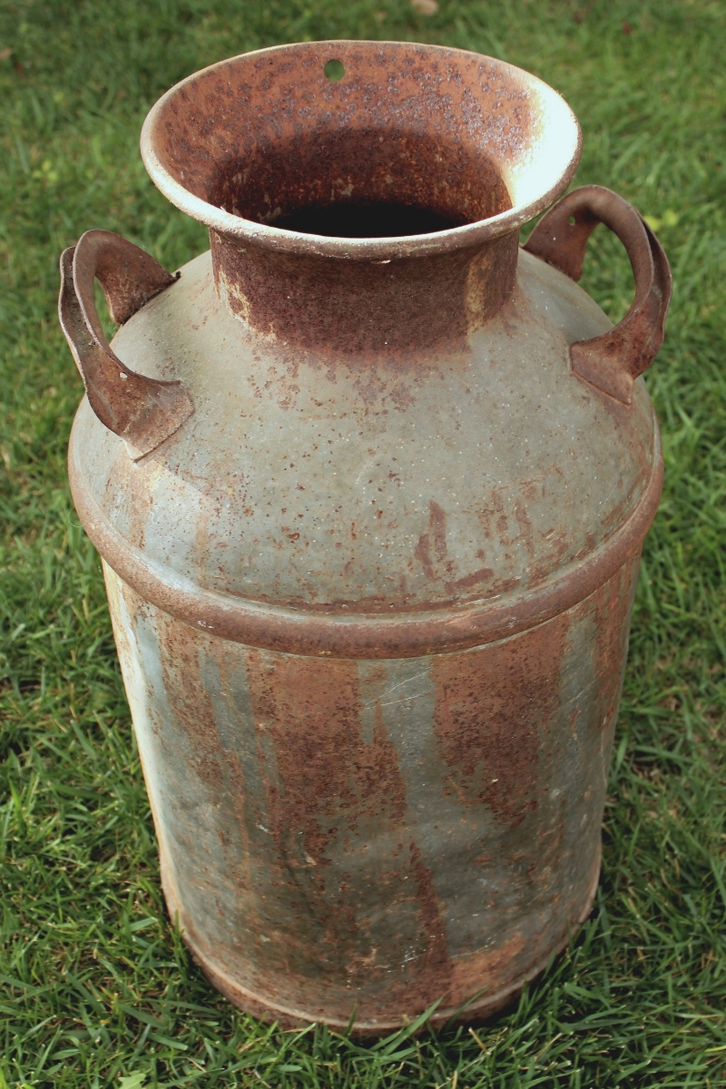 Rustic Vintage Milk Can rental