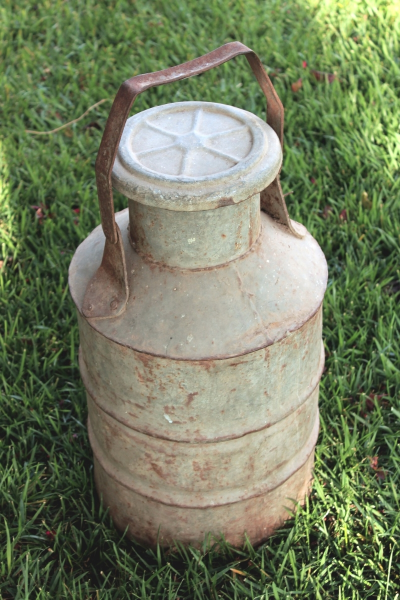 Rustic Vintage Milk Can Decor