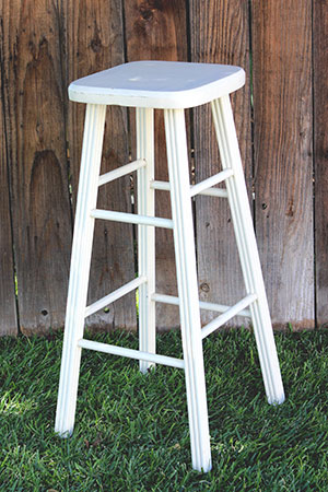 WHITE STOOL - $10 MORE DETAILS & PICS...