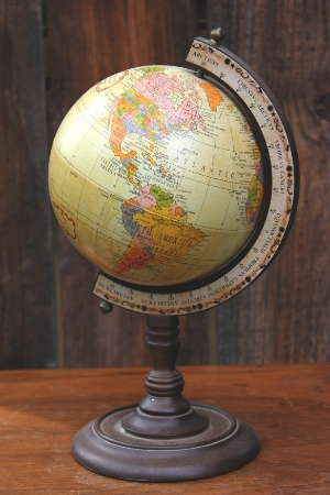 TABLETOP GLOBE - $10 MORE DETAILS & PICS...