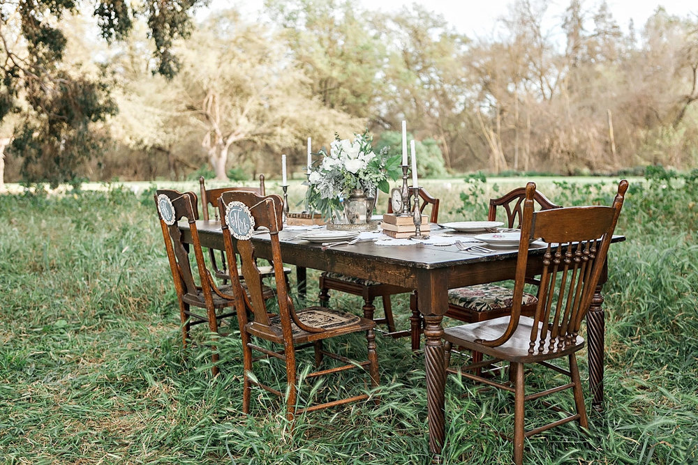 Rustic Vintage Wedding Farm Table rentals