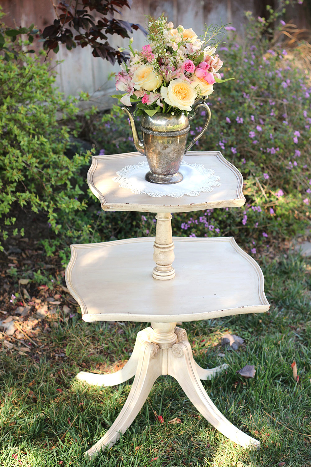 Two Tiered Table - American Vintage Rentals
