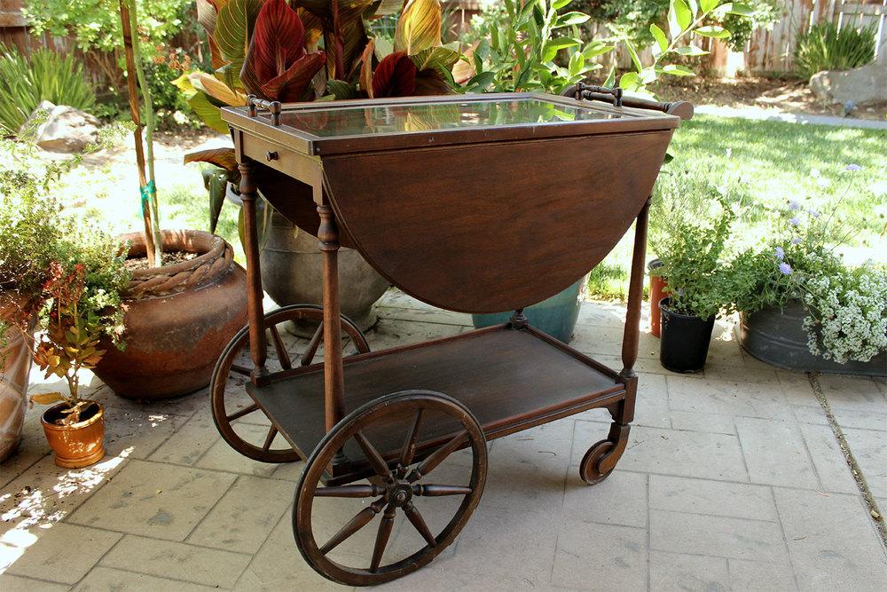 Vintage wedding Rolling Tea Cart