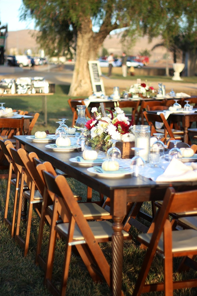 Rustic Country Wedding Farm Table Rentals