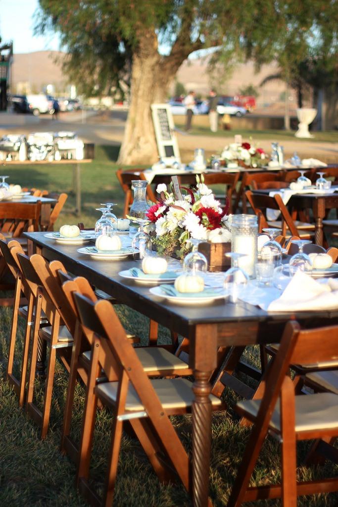 Rustic Country Wedding Farm Table