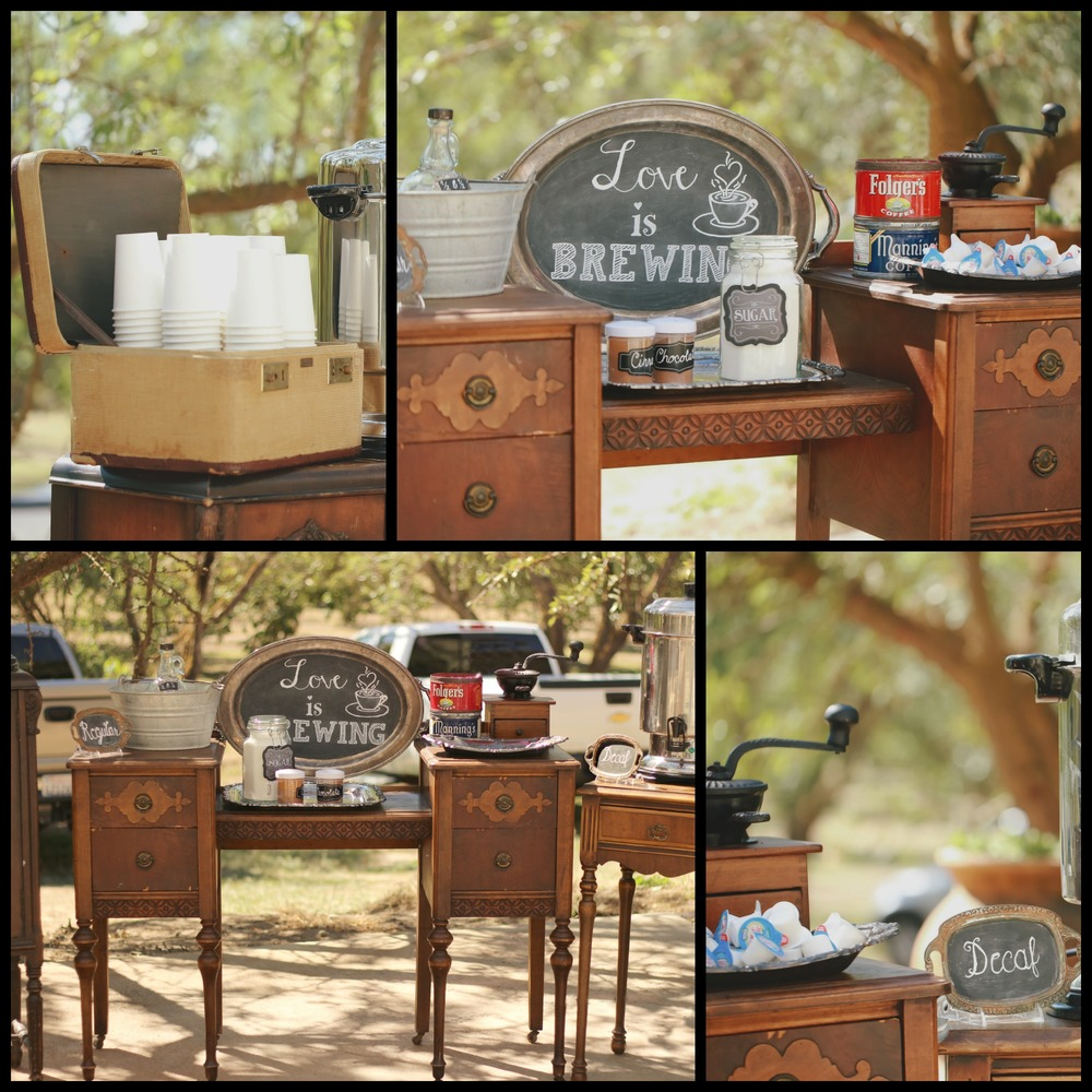 Vintage Wedding Coffee Bar