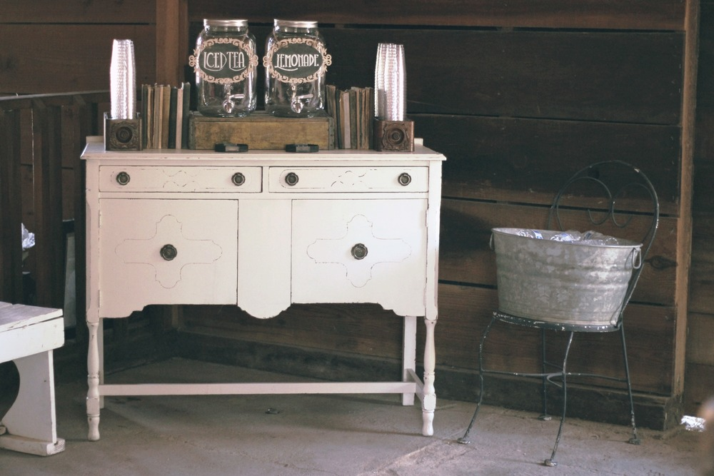 Vintage Wedding Beverage Bar