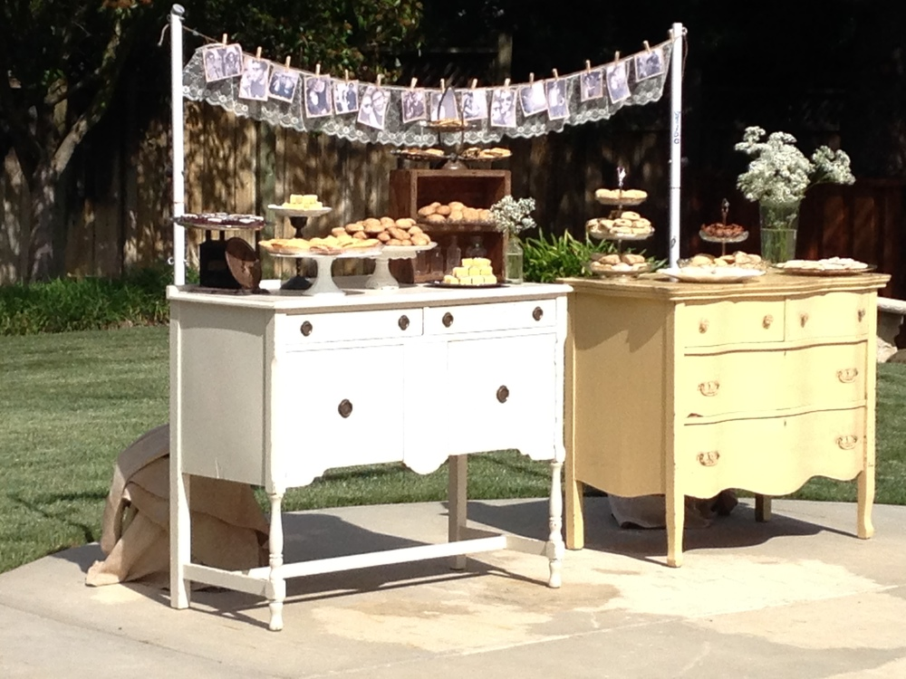 Vintage Furniture Dessert Display