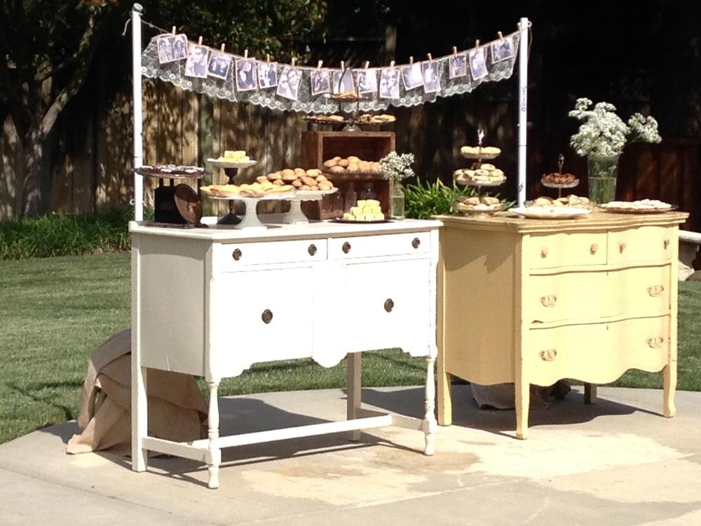 Vintage Furniture Dessert Display