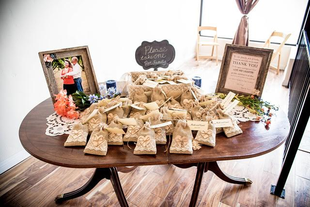 Vintage Wedding Guest Favors Table