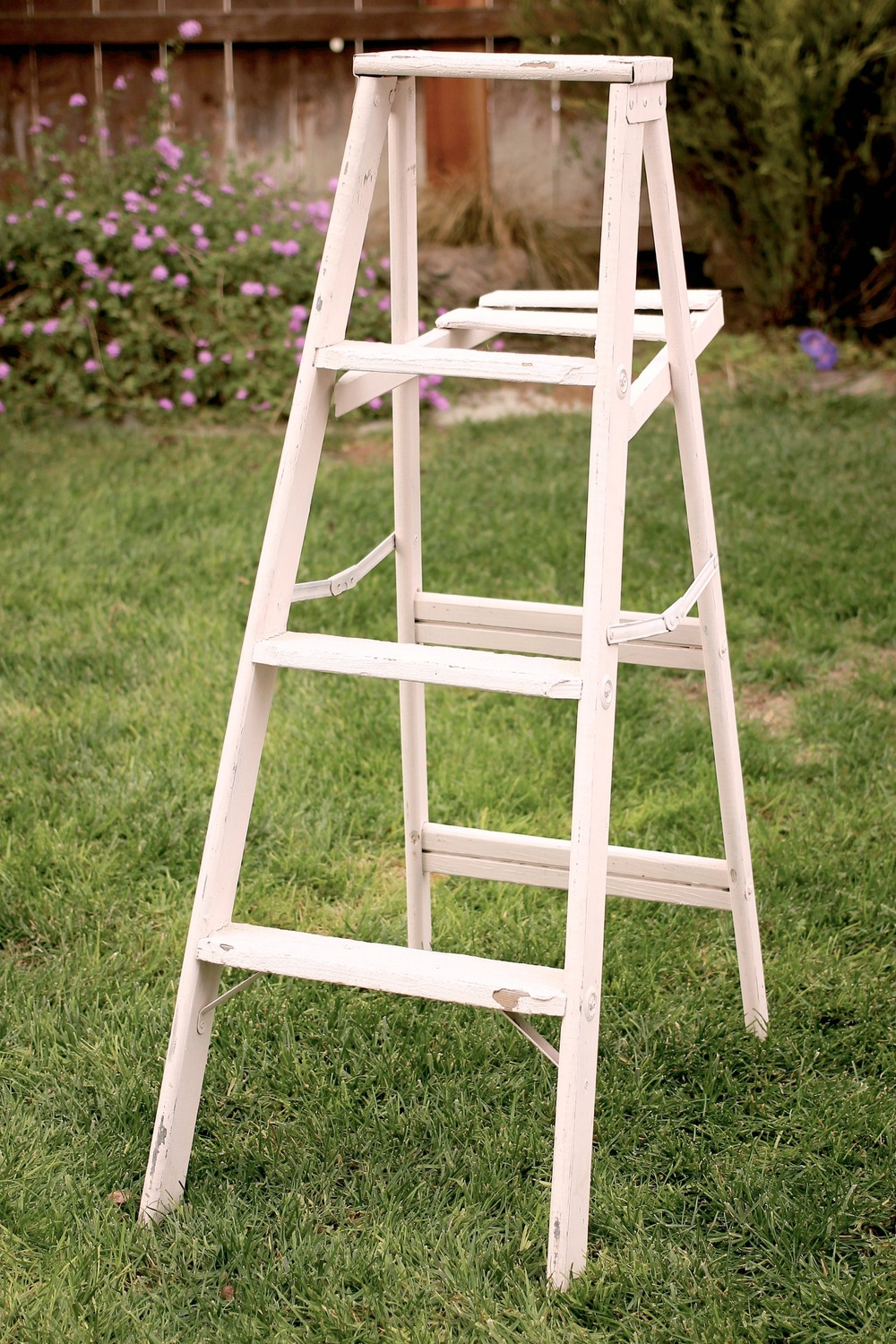 PAINTED A-FRAME LADDER - $15 MORE DETAILS & PICS...