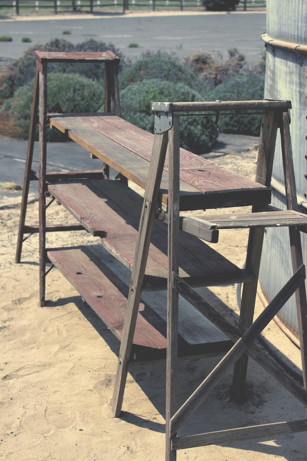 Rustic Vintage Ladder Shelf Drink Bar Rental