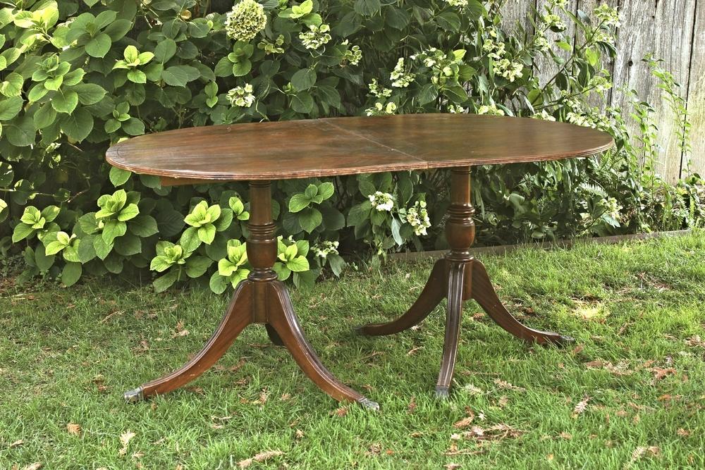 Double Pedestal Table - $75 MORE DETAILS & PICS...