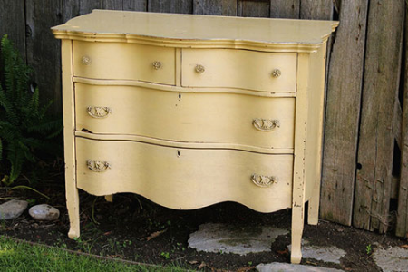 Yellow Wavy Dresser - $75 MORE DETAILS & PICS...