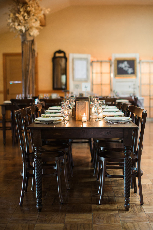Union Hill Inn Sonora California Wedding Reception Rustic Vintage Farm Tables