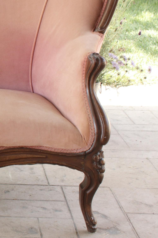 Rose Pink Vintage Love Seat - Settee wedding rentals