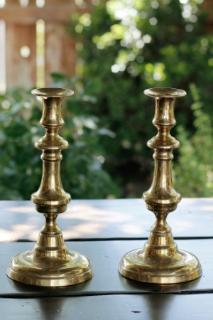 """ZOHAR"" -  Brass Taper Candlesticks RENT FOR $8/Each MORE DETAILS & PICS..."