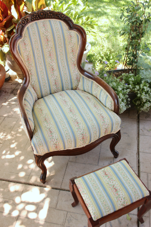 "Victorian Parlor Chair - ""Rosamond""   RENT FOR $50  MORE DETAILS & PICS..."