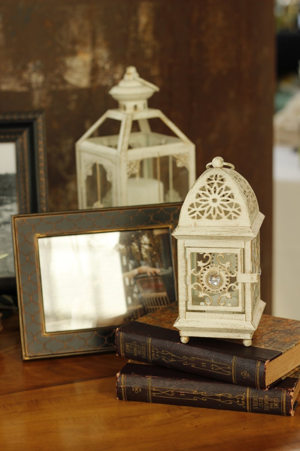 Wedding Lanterns with Books