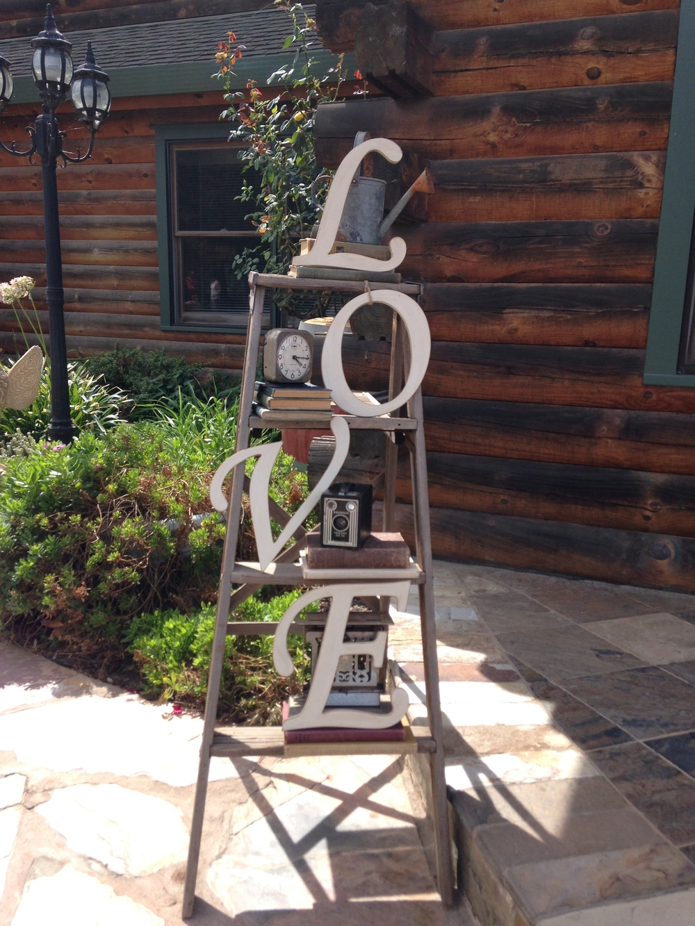 Purple Orchid Resort Wedding - Vintage LOVE ladder