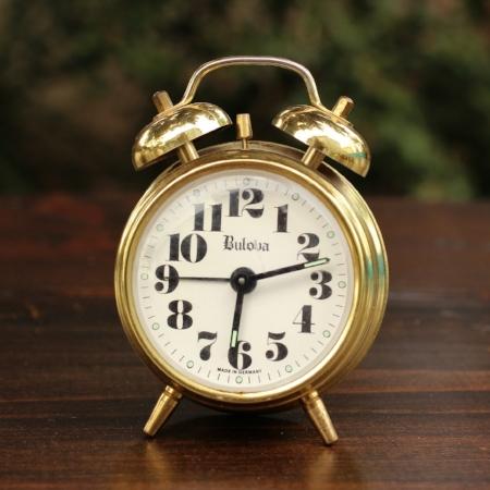 """Small """"Bulova"""" Alarm Clock - $3    MORE DETAILS & PICS..."""