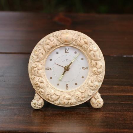 """Small """"Seth Thomas - FLEURS"""" Clock - $3    MORE DETAILS & PICS..."""