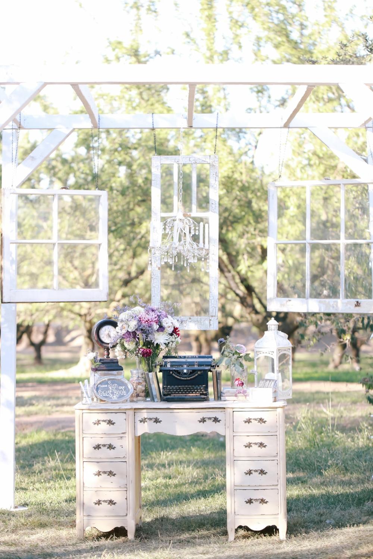 Vintage Wedding Desk Guest Welcome