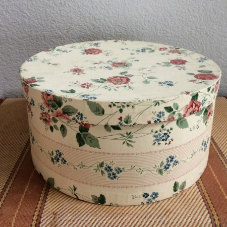 FLORAL HAT BOX - $10 MORE DETAILS & PICS...