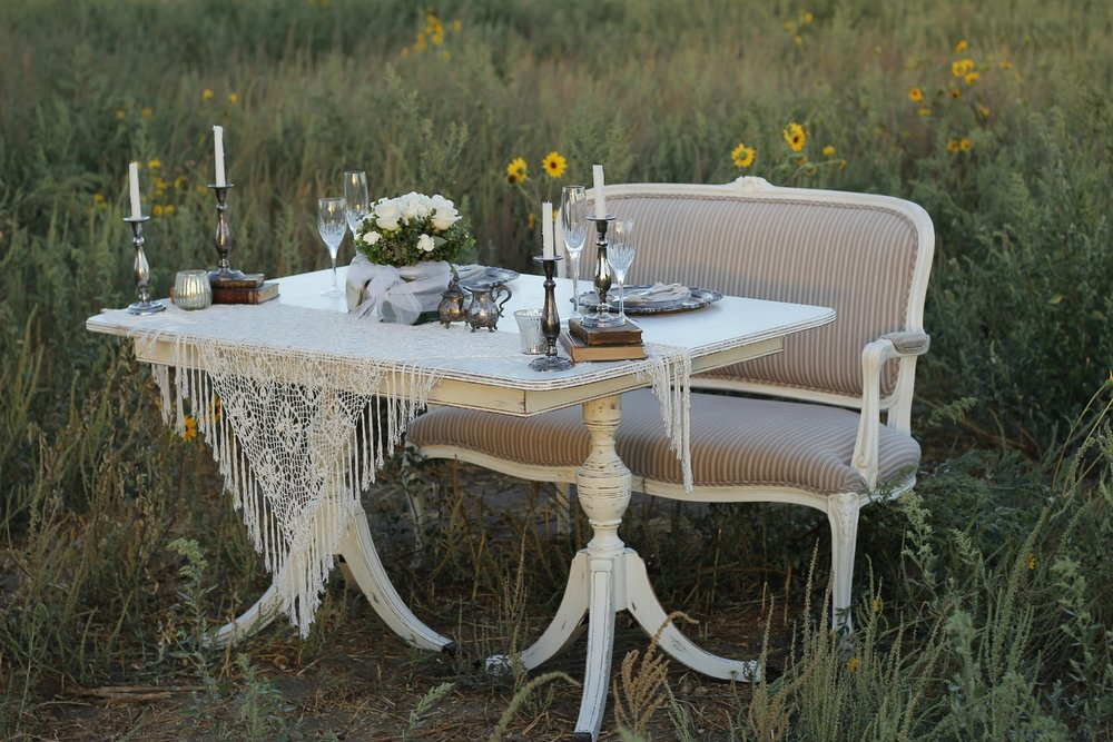 Vintage Wedding Loveseat