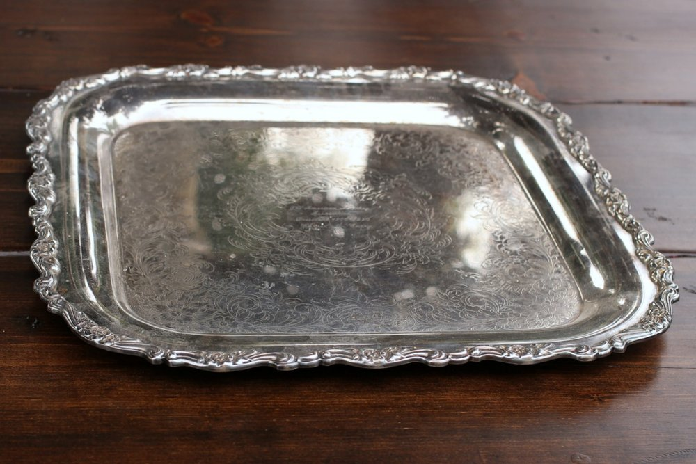 "LARGE SQUARE TRAY - $15 11""x 11"" -inside lip / 15"" X 15 ""overall"