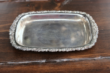 "SMALL TRAY W/FLORAL EDGE - $5 5""X 8"""