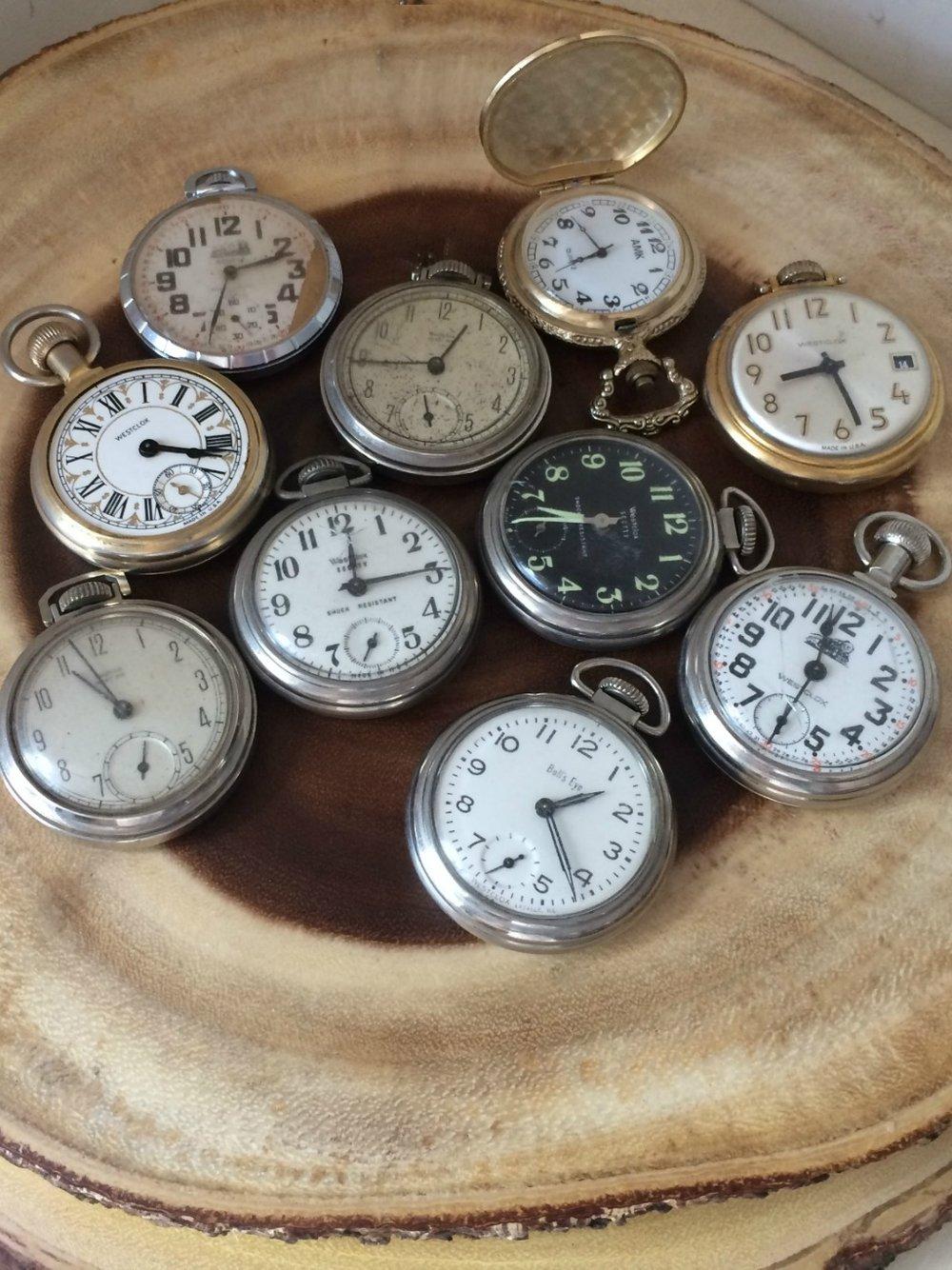 Vintage Pocket Watches - wedding decor