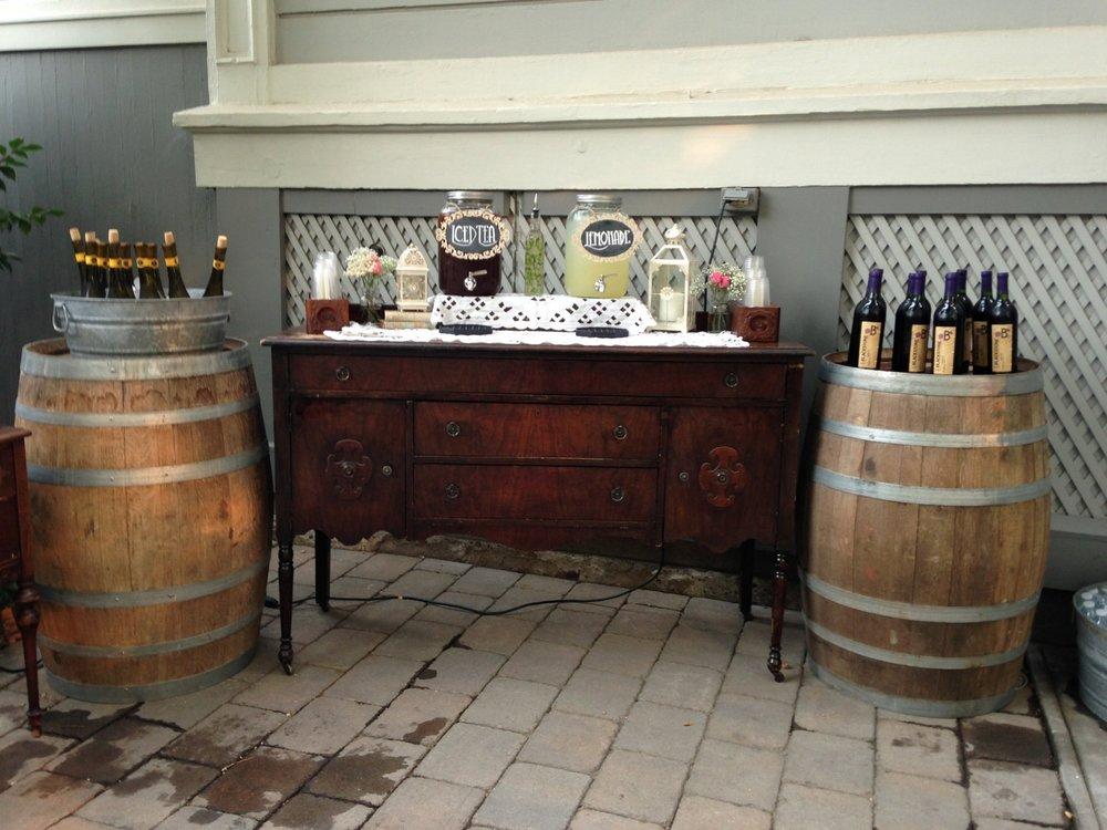 Vintage Wedding Beverage Bar
