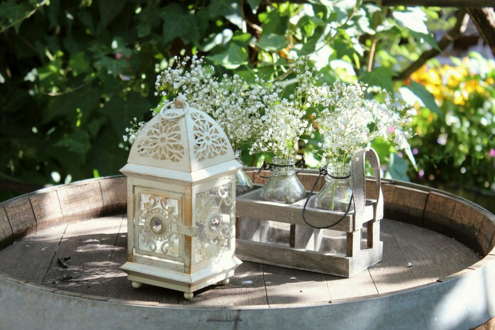 Shabby-Chic Wedding Lantern Decor