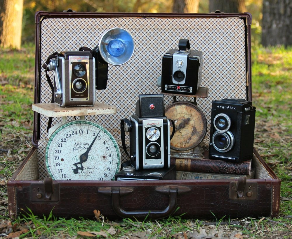 Vintage Wedding Rentals - Cameras & Luggage