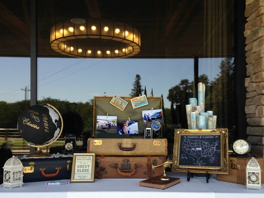 Vintage Wedding Ideas - Travel Theme