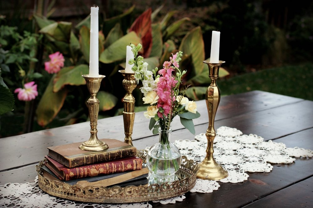 Romantic Wedding Table Centerpiece